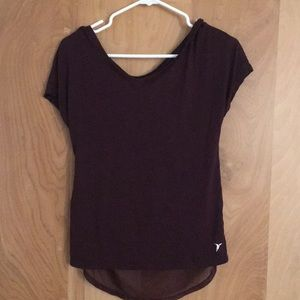 Workout tee with back detail